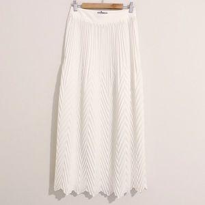 ASOS | Chevron Pleated Midi Skirt
